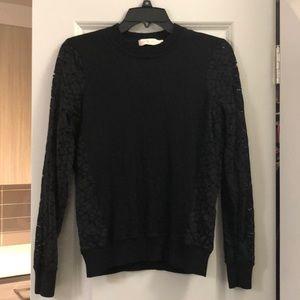 Tory Burch black long sleeve sweater